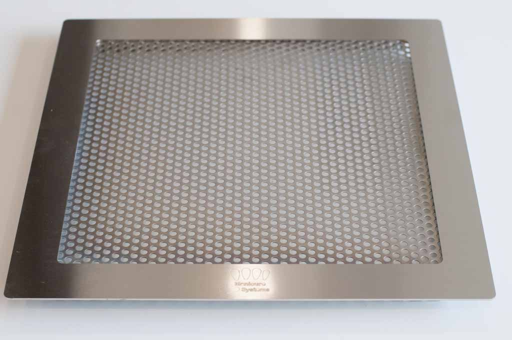 Large stainless steel grill for nail dust collectors.