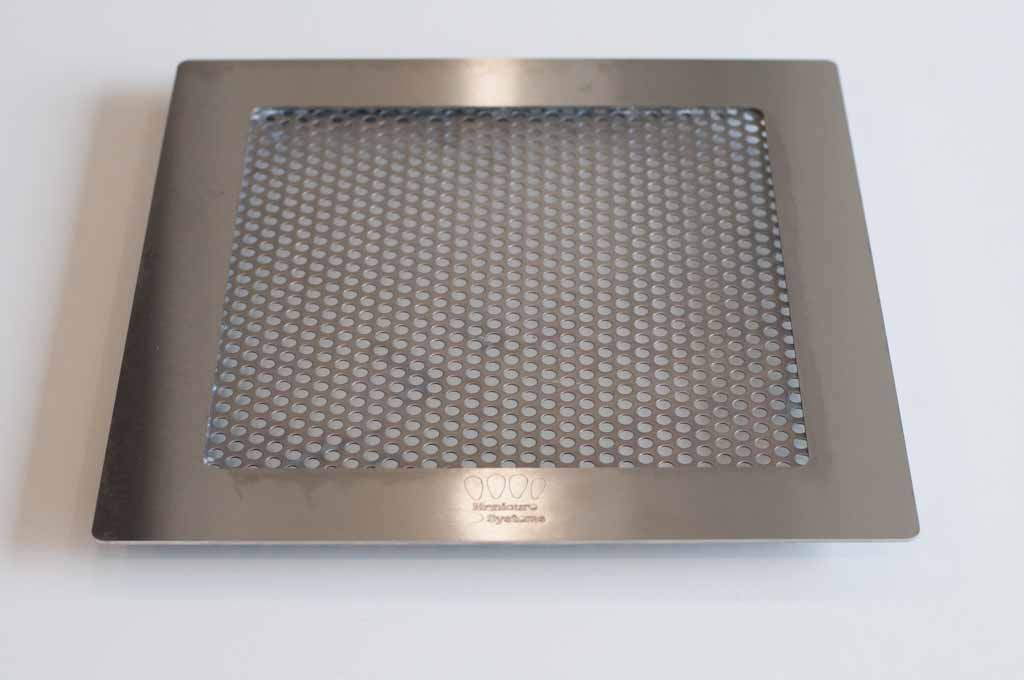 Top desk stainless steel replacement grille for nail dust collectors, made by Manicure Systems