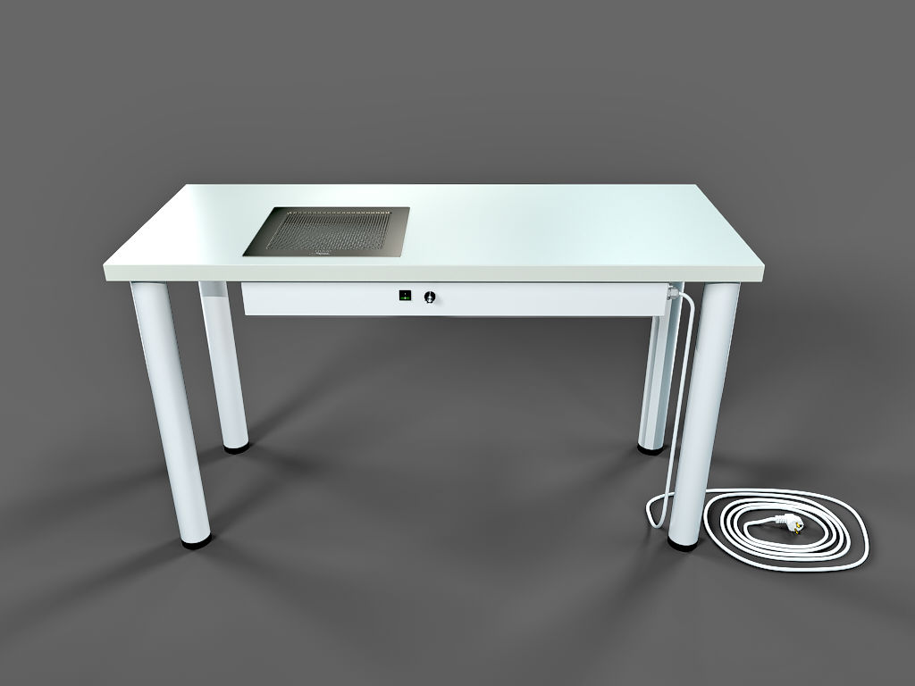 manicure table with nail dust collector